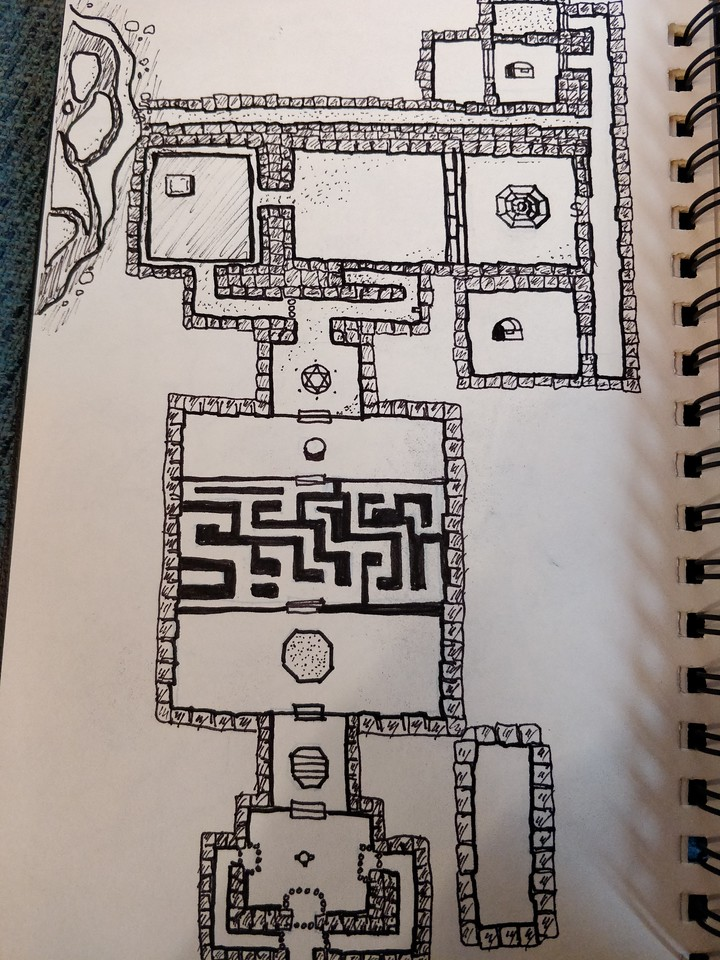 Dungon Master's aide: a simplified rendering of the Dissian Catacombs